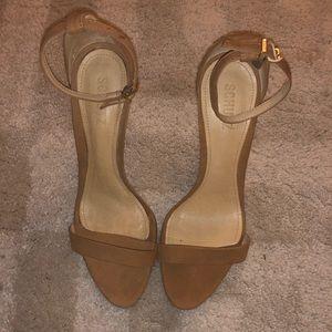 Schutz tan strappy sandals size 41